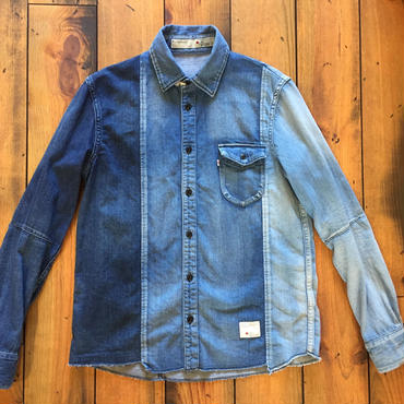 BLUE SAKURA DENIM SHIRT CRAZZY