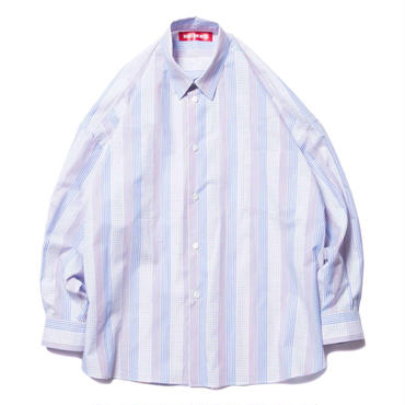 BONES AND BOLTS - O.D L/S SHIRT (DOBBY CHECK) ブルー