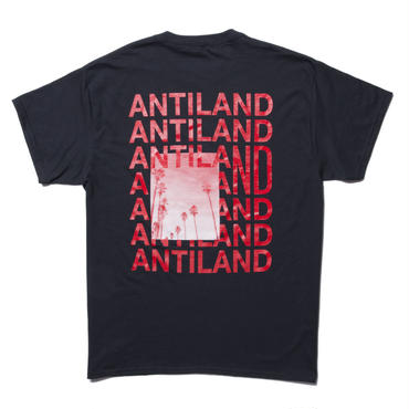 BONES AND BOLTS - TEE (ANTILAND) ブラック