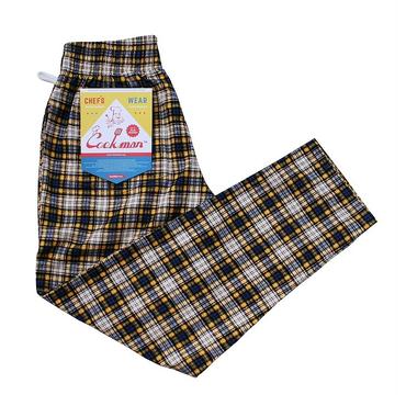 COOK WEAR - Chef Pants 「コーデュロイ タータン」イエロー