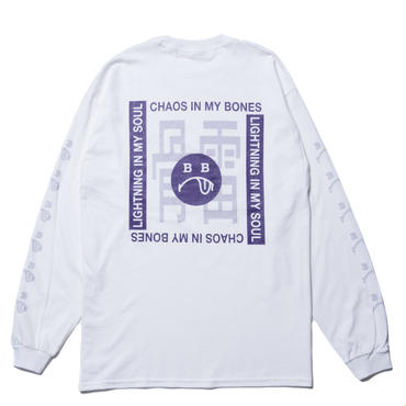 BONES AND BOLTS - L/S TEE (BERO) ホワイト