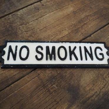 """ダルトン IRON SIGN  """"NO SMOKING"""""""