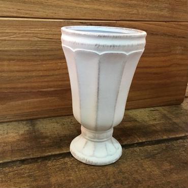 フラワーベース グリ エ ブラン Φ8.5×H14.5  ライトグレー Ceramic Vase Country