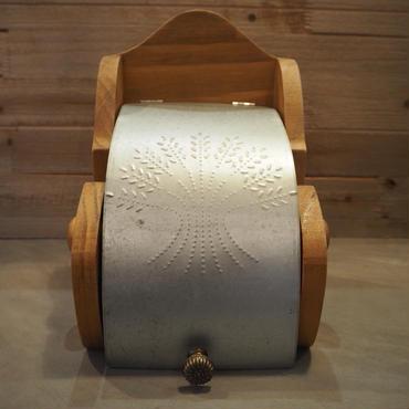 グランシュマン 木製&ブリキ トイレットペーパーホルダー