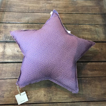 Numero74 クッション star cushion pattern (star pueple-beige)