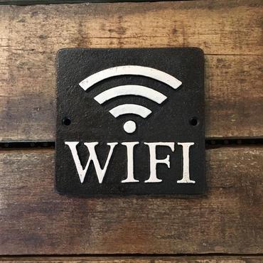 """スクエアサイン """"wi-fi"""" ブラック"""