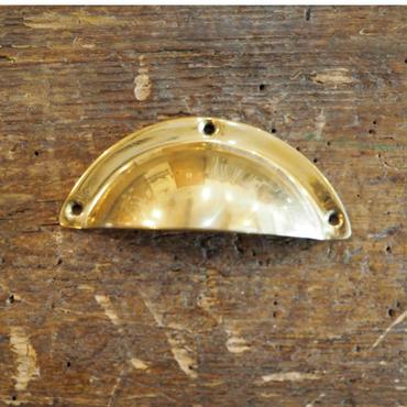 ハンドル 取っ手 ラウンド型 ゴールド 真鍮磨き