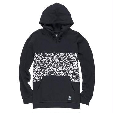 ELEMENT Keith Haring Panel Hoodie Black