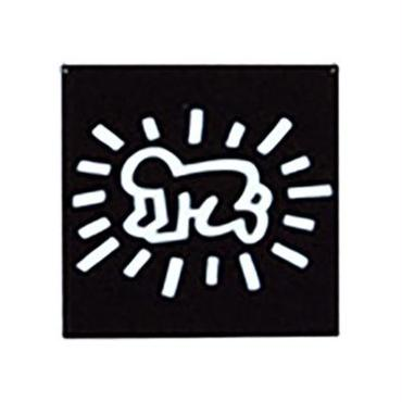 Keith Haring Rectangular Magnet  ( Radiant Baby )  Black