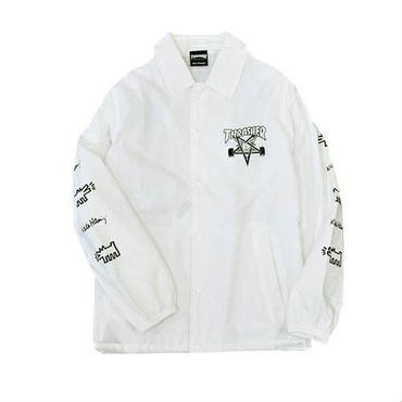 Keith Haring × THRASHER Coach Jacket White