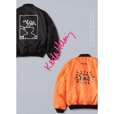 FOSTEX GARMENTS × Keith Haring MA-1 Jacket Black