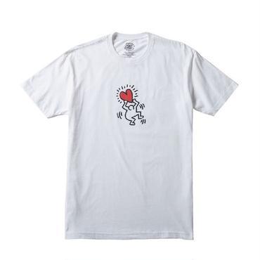 "Keith Haring Unisex T-Shirts ""Holding Heart"" White キース・ヘリング ユニセックス Tシャツ"