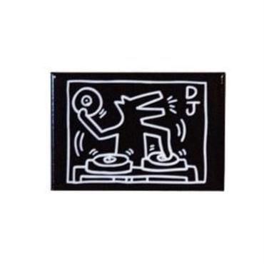 Keith Haring Rectangular Magnet (DJ Dog)