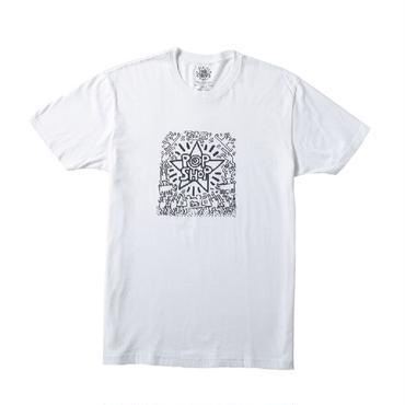 """Keith Haring Unisex T-Shirts """"Pop Shop"""" White キース・ヘリング ユニセックス Tシャツ"""