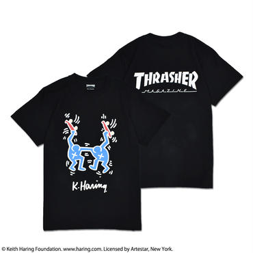Thrasher × Keith Haring T-Shirts 2018 Skater (Black)