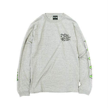 Keith Haring × THRASHER Print Long Sleeve Tee Gray