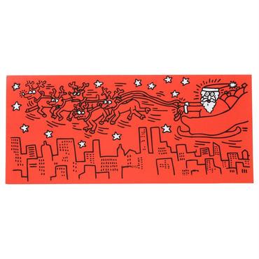 Keith Haring Red Santa Notecards (12 Set)  キース・ヘリング クリスマス カード  12枚セット
