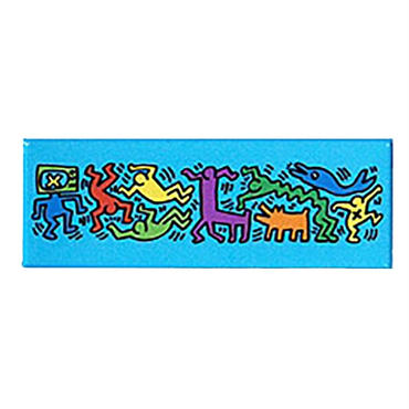 Keith Haring Long Magnet  (Figures)  Blue