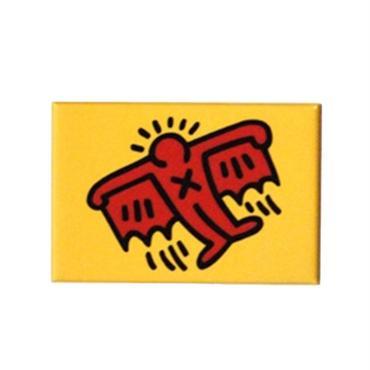 Keith Haring Rectangular Magnet (Batman)