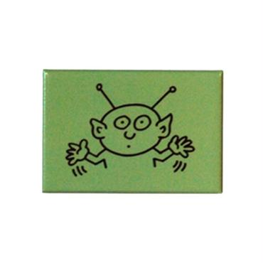 Keith Haring Rectangular Magnet  (Alien)