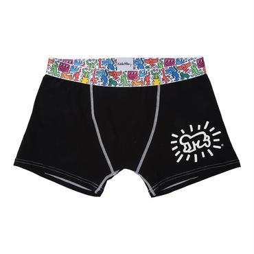 Clothmania x Keith Haring  メンズ ボクサーパンツ(Black/Baby)