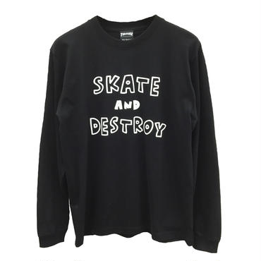 Keith Haring × THRASHER  Long Sleeve T-shirt  Black