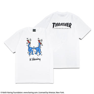 Thrasher × Keith Haring T-Shirts 2018 Skater (White)