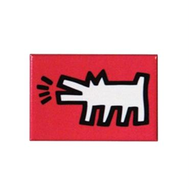 Keith Haring Rectangular Magnet (Barking Dog)