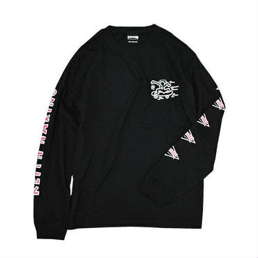 Keith Haring × THRSHER Print Long Sleeve Tee Black
