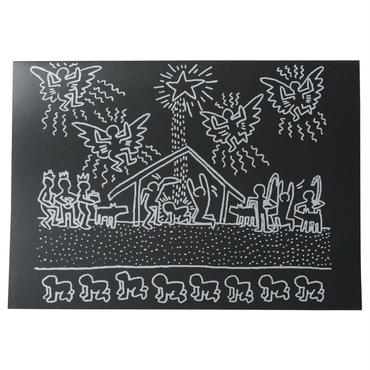 Keith Haring Holiday Notecard  キース・ヘリング クリスマス カード(SUBWAY DRAWING.1983)