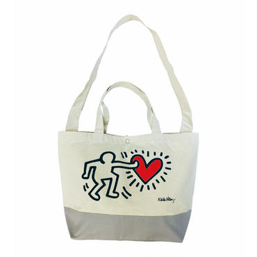 Keith Haring Tote Back  (Heart)  キース・ヘリング トートバッグ