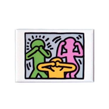 Keith Haring Rectangular Magnet  (No Evil)