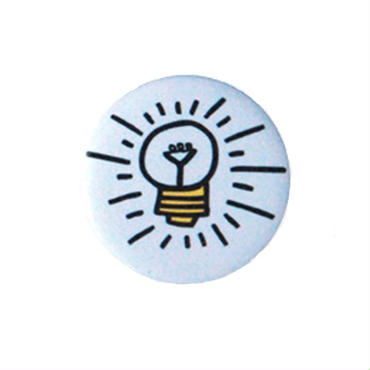 Keith Haring Round Magnet  (Lightbulb)