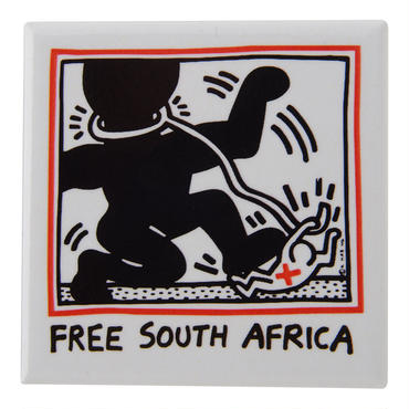 POP SHOP Keith Haring  Free South Africa Button