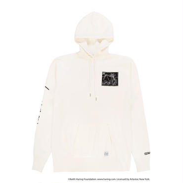 JOYRICH x Keith Haring Patch Hoodie / WHITE