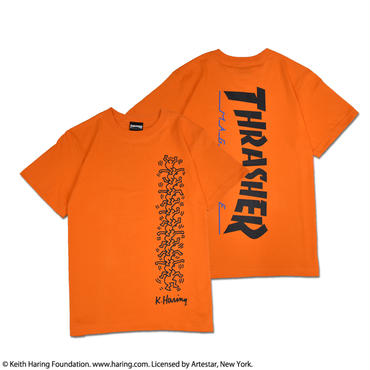 Thrasher × Keith Haring T-Shirts 2018 People Ladder (Orange)