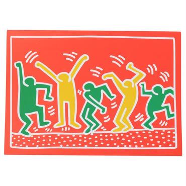 Keith Haring Holiday Notecard (20 Set) キース・ヘリング クリスマス カード (Red Green Orange)  20枚セット