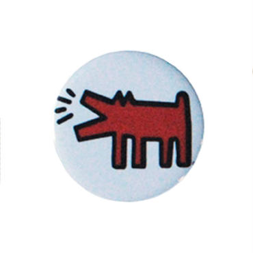 Keith Haring Round Magnet (Barking Dog)