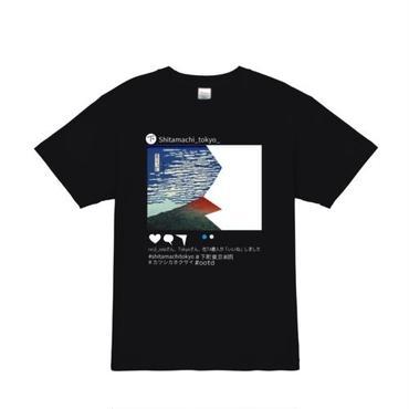 ' Hidden Fragment of Mt Fuji' T-shirts Black