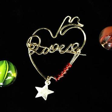 """ブローチ DUECCEL """"LOVE"""" P028"""
