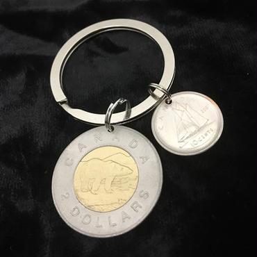 キーホルダー アンティークコイン  K004