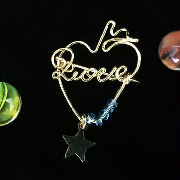 """ブローチ DUECCEL """"LOVE"""" P025"""