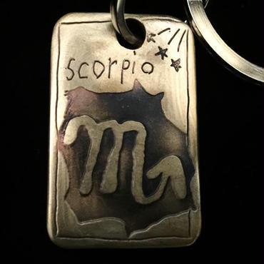 """銅板キーホルダー """"SCOPIO""""  M020"""