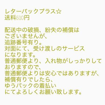 310円にて送料レターパックプラスに変更☆