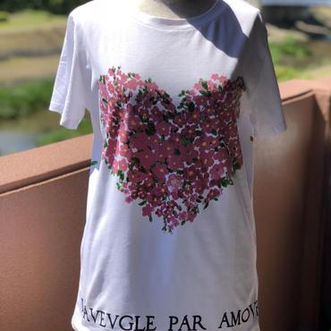 お花・鳥柄半袖Tシャツ