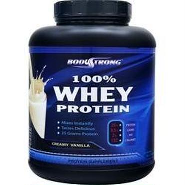 BodyStrong 100%ホエイプロテイン クリーミーバニラ風味  2,268g