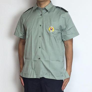 チェコ軍 ライトグリーン レディース 半袖フィールドシャツ(新品 実物)SH-CZ4NSL