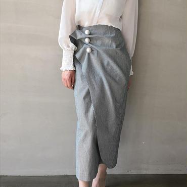 シャーリングパールスカート S.M