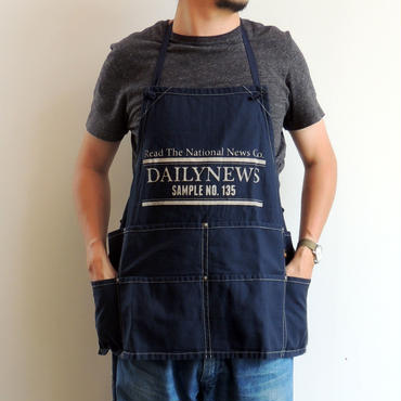 07 NEWSPAPER CO BIB APRON_NAVY
