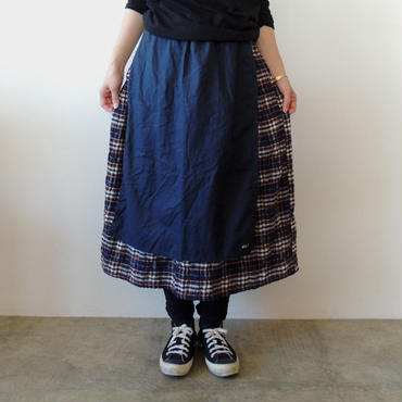 HARVEST SKIRT_NAVY FLANNEL